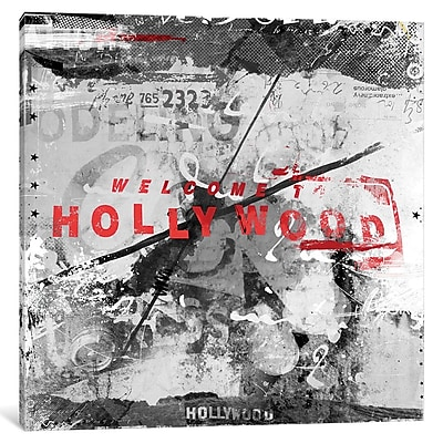 Williston Forge 'Welcome to Hollywood' Graphic Art on Wrapped Canvas; 37'' H x 37'' W x 0.75'' D
