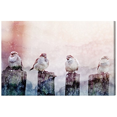 Ivy Bronx 'Good Day Birds' Photographic Print on Wrapped Canvas; 30'' H x 45'' W