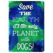 Ivy Bronx 'Dog Planet' Textual Art on Canvas; 45'' H x 30'' W x 1.5'' D