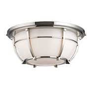 Longshore Tides Argie 3-Light Flush Mount; Polished Nickel