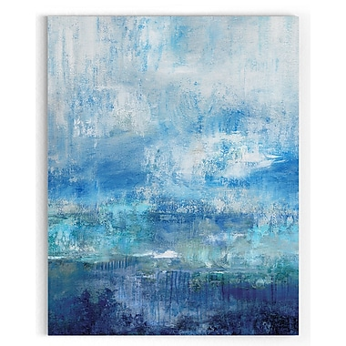 Latitude Run 'Morning Mist' Watercolor Painting Print on Wrapped Canvas; 48'' H x 36'' W