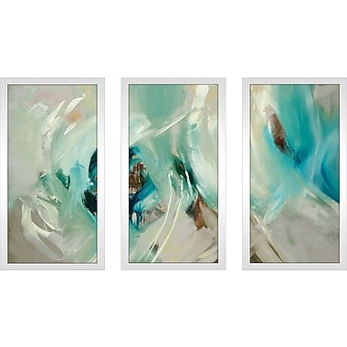 Latitude Run 'Bella' Framed Painting Print Multi-Piece Image on Glass; 25.5'' H x 40.5'' W