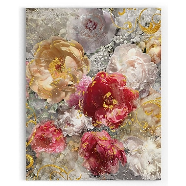 Mercer41 'Roses Everlasting I' Painting Print on Wrapped Canvas; 32'' H x 24'' W