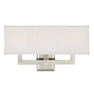 Orren Ellis Maurice 3-Light Wall Sconce; Satin Nickel