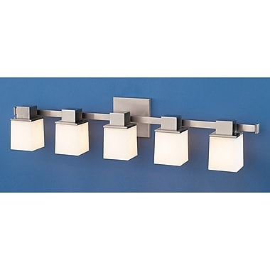Orren Ellis Fiona 5-Light Vanity Light; Satin Nickel