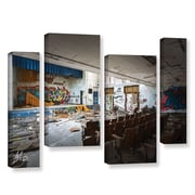 17 Stories 'Abandoned School 1' Photographic Print Multi-Piece Image on Canvas in Gray/Brown