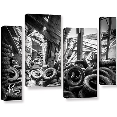 17 Stories 'Abandoned Tires' Photographic Print Multi-Piece Image on Canvas; 36'' H x 54'' W x 2'' D