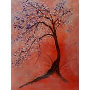 Winston Porter 'Blue Blossom Tree' Print on Wrapped Canvas; 16'' H x 12'' W