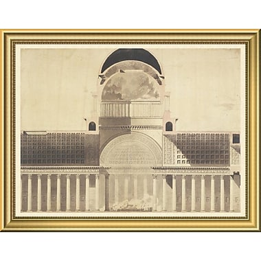 'Architectural Project for the Church of the Madeleine 1777 - 1785' Framed Graphic Art Print