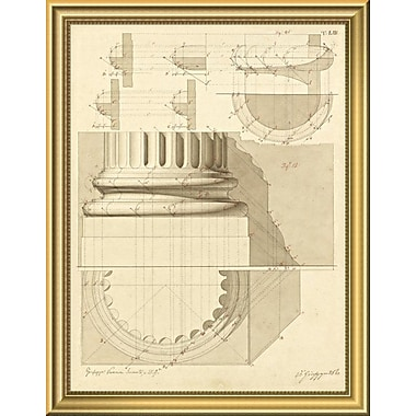 East Urban Home 'Plate 53 for Elements of Civil Architecture ca. 1818-1850' Framed Graphic Art Print