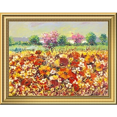 East Urban Home 'Colori di Primavera' Framed Oil Painting Print; 11'' H x 14'' W