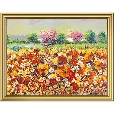 East Urban Home 'Colori di Primavera' Framed Oil Painting Print; 14'' H x 18'' W