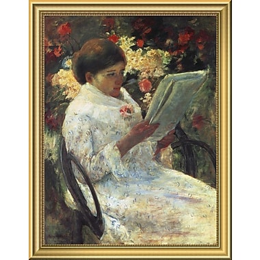 East Urban Home 'Woman Reading' Framed Oil Painting Print; 18'' H x 14'' W