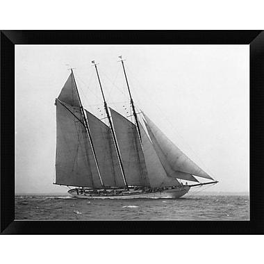 East Urban Home 'The Schooner Karina at Sail 1919' Framed Photographic Print; 9'' H x 12'' W
