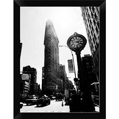 East Urban Home 'The Flatiron Building NYC' Framed Photographic Print; 12'' H x 9'' W
