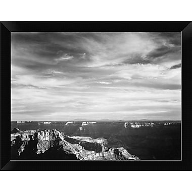 'Grand Canyon from North Rim - National Parks and Monuments 1940' Framed Photographic Print