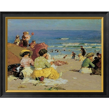East Urban Home 'A Family Outing' Framed Oil Painting Print; 14'' H x 18'' W