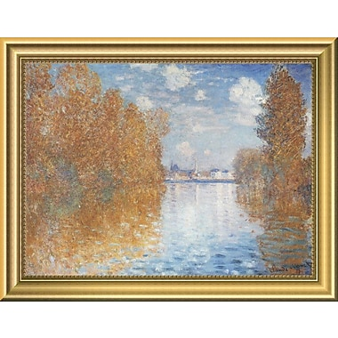 East Urban Home 'Autumn Effect at Argenteuil 1873' Framed Oil Painting Print; 9'' H x 12'' W