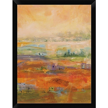 East Urban Home 'Country Village II' Framed Oil Painting Print; 16'' H x 12'' W
