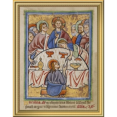 East Urban Home 'The Last Supper' Framed Graphic Art Print; 18'' H x 14'' W