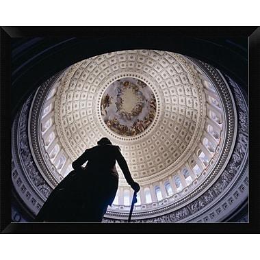 East Urban Home 'U.S. Capitol Dome Washington D.C' Framed Photographic Print; 12'' H x 16'' W