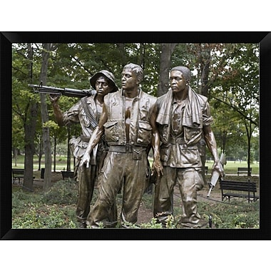 'Vietnam Memorial Soldiers by Frederick Hart Washington D.C.' Framed Photographic Print