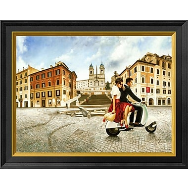 East Urban Home 'Lovers' Framed Oil Painting Print; 11'' H x 14'' W