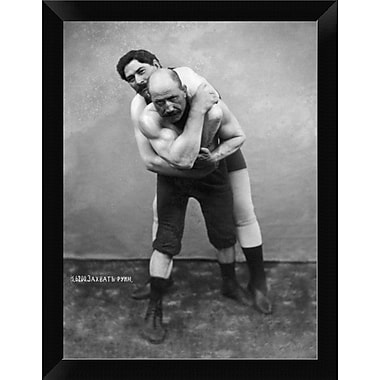 East Urban Home 'Wrestling Hold from Behind' Framed Graphic Art Print; 12'' H x 9'' W
