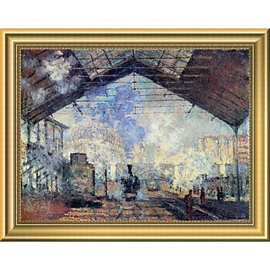 East Urban Home 'Gare St. Lazare' Framed Oil Painting Print; 11'' H x 14'' W
