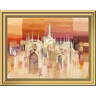 East Urban Home 'Milano al tramonto' Framed Oil Painting Print; 11'' H x 14'' W
