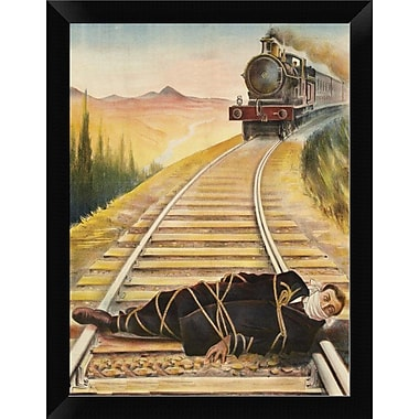 East Urban Home 'Vintage Westerns: Main de Fer' Framed Oil Painting Print; 12'' H x 9'' W