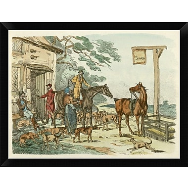 East Urban Home 'Hunters Before Hunting 1817' Framed Oil Painting Print; 12'' H x 16'' W