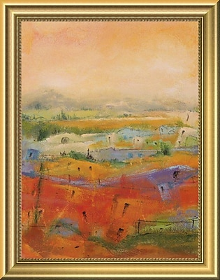 East Urban Home 'Country Village I' Framed Oil Painting Print; 14'' H x 11'' W