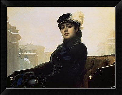 East Urban Home 'Portrait of an Unknown Woman' Framed Oil Painting Print; 9'' H x 12'' W