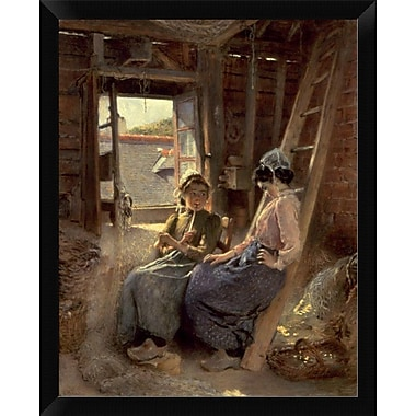 East Urban Home 'Sisters' Framed Oil Painting Print; 16'' H x 12'' W