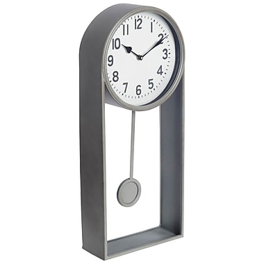 Brayden Studio Modern 10'' Metal Wall Clock; Gray