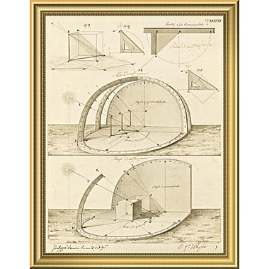 East Urban Home 'Plate 47 for Elements of Civil Architecture ca. 1818-1850' Framed Graphic Art Print