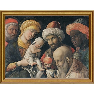 East Urban Home 'Adoration of the Magi' Framed Oil Painting Print; 9'' H x 12'' W
