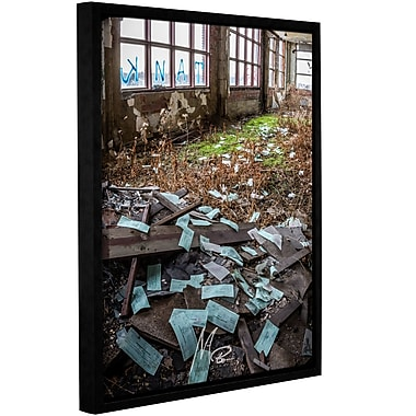 Williston Forge 'Abandoned Paychecks' Framed Photographic Print on Canvas; 10'' H x 8'' W x 2'' D