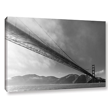 'Sunbeams Through the Golden Gate Black and White' Photographic Print on Wrapped Canvas