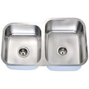 Daweier 32'' x 18'' Double Basin Undermount Kitchen Sink