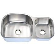 Daweier 35'' x 20'' Double Basin Undermount Kitchen Sink