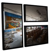 17 Stories 'Abandoned School 1' Framed Photographic Print Multi-Piece Image on Canvas in Black/Brown