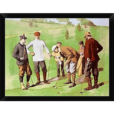 East Urban Home 'Leg Wrapping' Framed Oil Painting Print; 12'' H x 16'' W