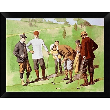 East Urban Home 'Leg Wrapping' Framed Oil Painting Print; 9'' H x 12'' W