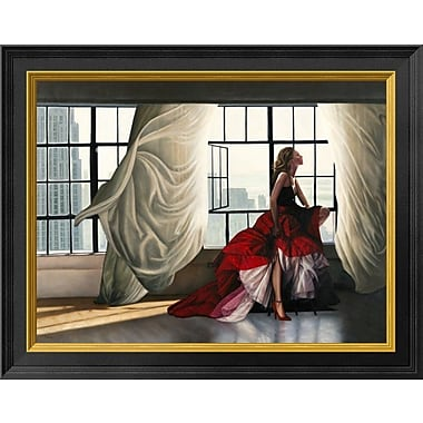 East Urban Home 'Midtown Breeze' Framed Oil Painting Print; 11'' H x 14'' W