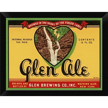 East Urban Home 'Glen Ale' Framed Graphic Art Print; 9'' H x 12'' W