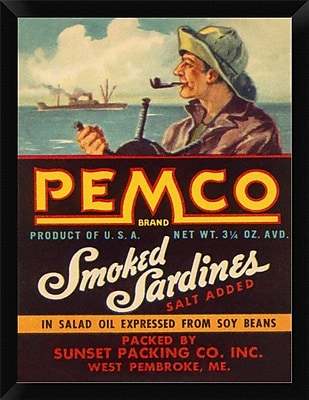 East Urban Home 'Remco Smoked Sardines' Framed Graphic Art Print; 16'' H x 12'' W