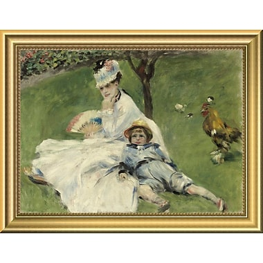 East Urban Home 'Madame Monet and Her Son' Framed Oil Painting Print; 10.76'' H x 14'' W
