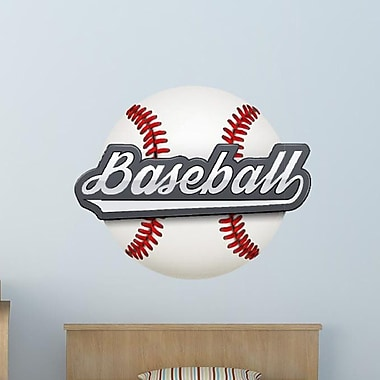 Style and Apply Baseball Wall Decal; 25'' H x 31'' W